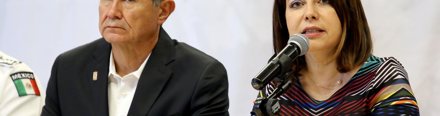 Doctora Carmen Enedina Rodríguez Armenta Haciendo uso de la palabra
